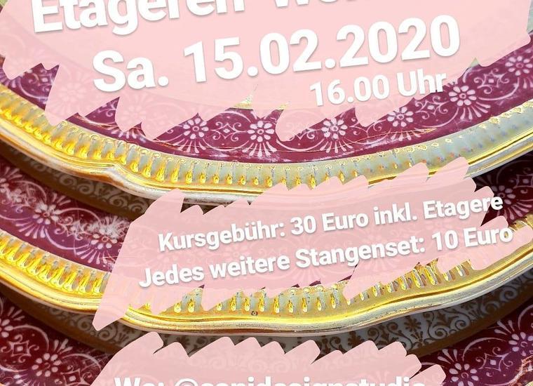 DIY Etageren im Sani Kreativ Workshop Designstudio Neckarwestheim